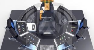 自主设计研制的下一代高铁车辆驾驶人机交互仿真实验平台